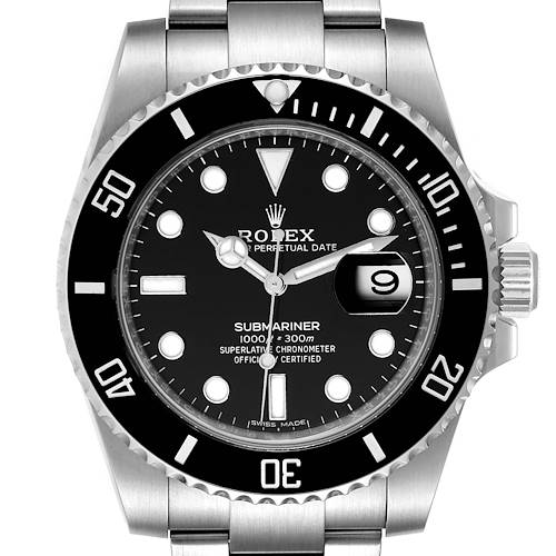 Photo of Rolex Submariner Black Dial Ceramic Bezel Steel Mens Watch 116610 Box Card