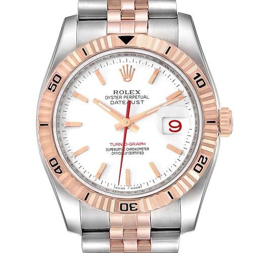 Photo of Rolex Turnograph Datejust Steel 18K Rose Gold Mens Watch 116261