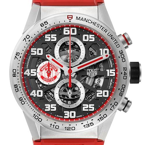 Photo of TAG Heuer Carrera Manchester United LE Steel Mens Watch CAR201M Box Card