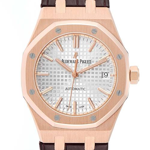 Photo of Audemars Piguet Royal Oak 37mm Midsize Rose Gold Mens Watch 15450OR