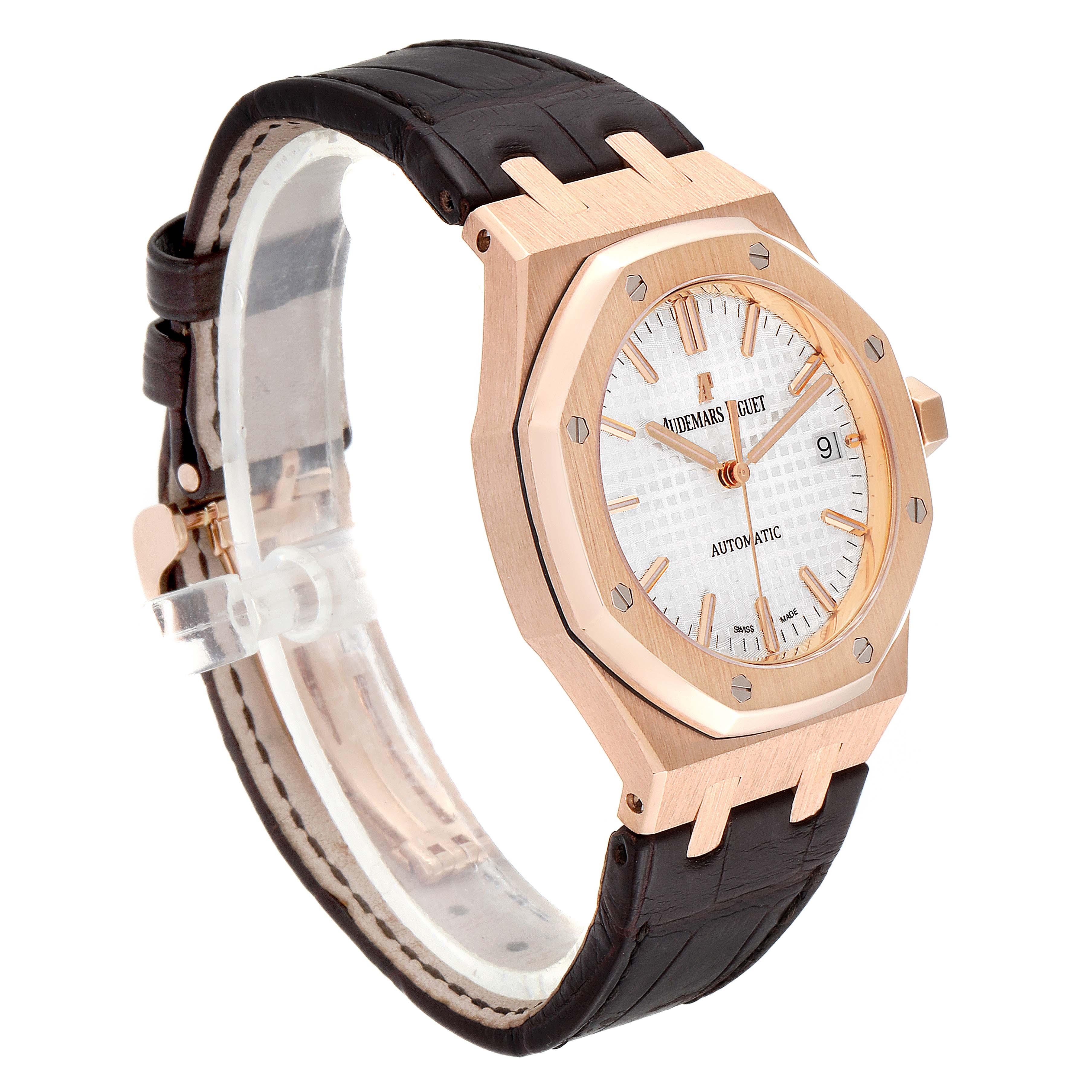 Audemars Piguet Royal Oak 37mm Midsize Rose Gold Mens Watch 15450OR SwissWatchExpo