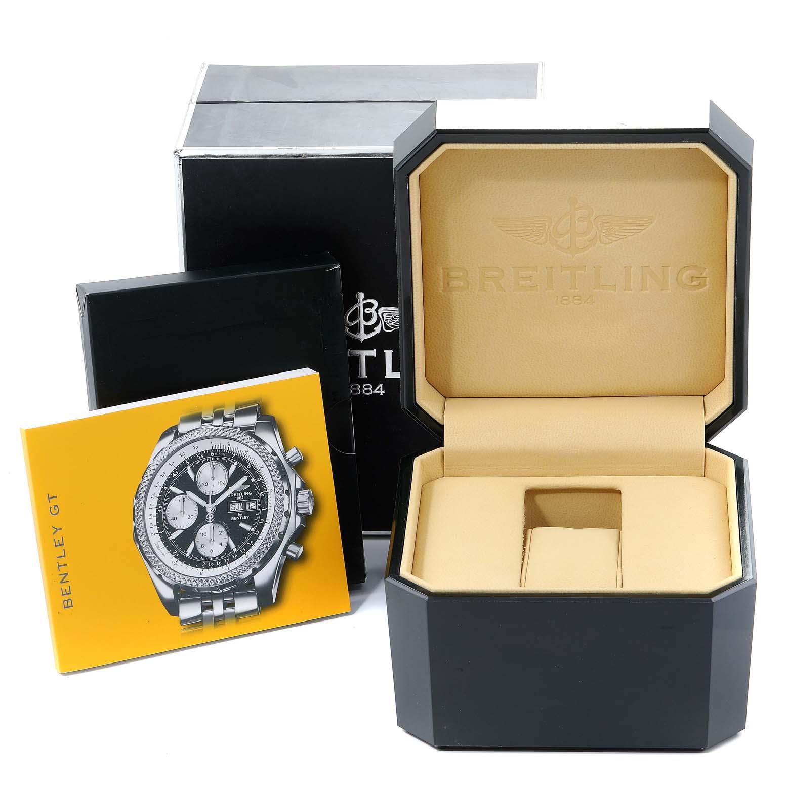 Breitling Bentley Motors GT Green Special Edition Mens Watch A13362 SwissWatchExpo