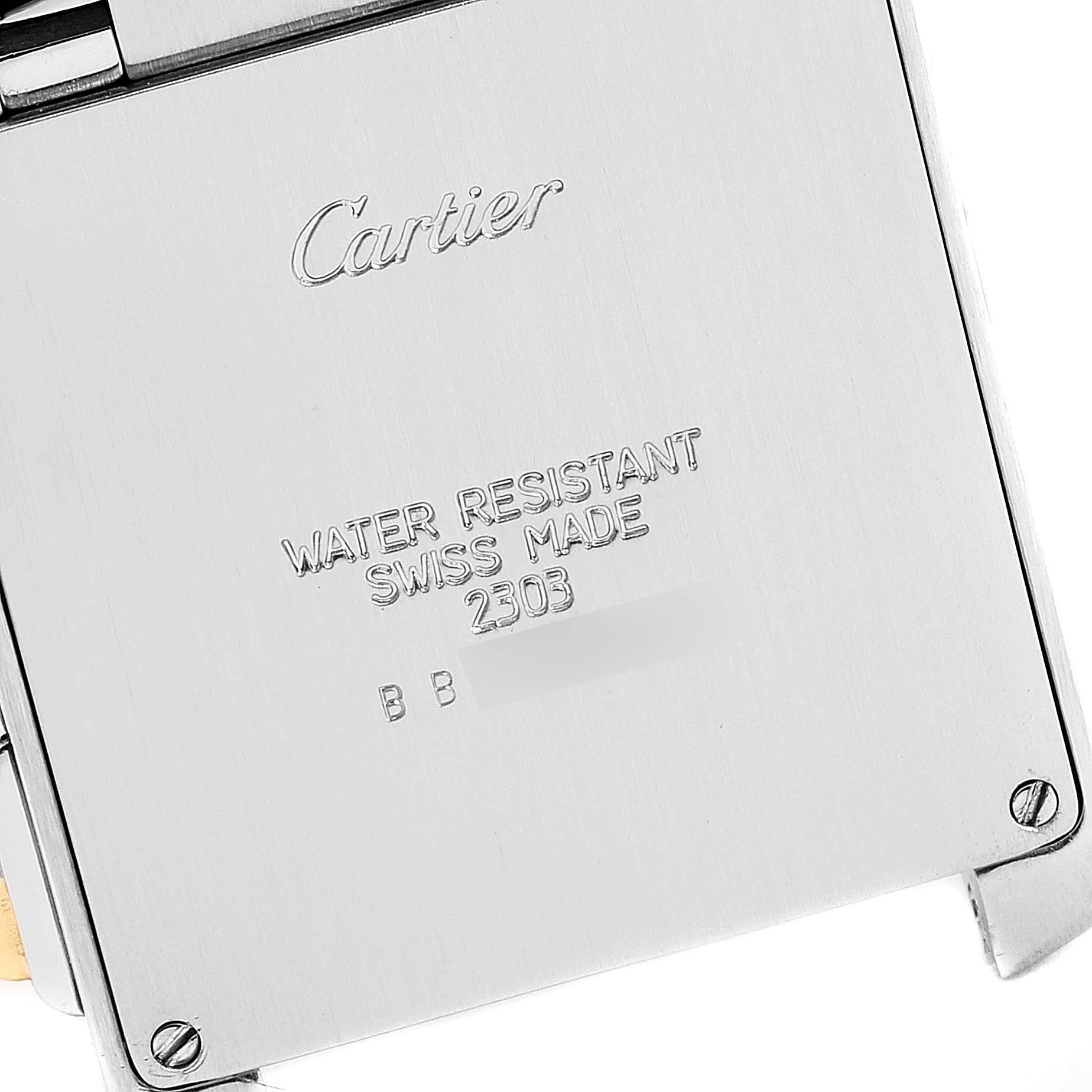 Cartier Tank Francaise Steel 18K Yellow Gold Chrongraph Watch W51004Q4 SwissWatchExpo
