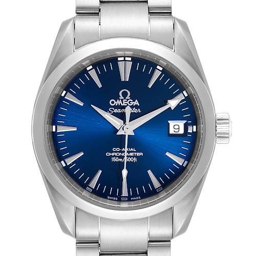 Photo of Omega Seamaster Aqua Terra 36 Blue Dial Steel Watch 2504.80.00 Card