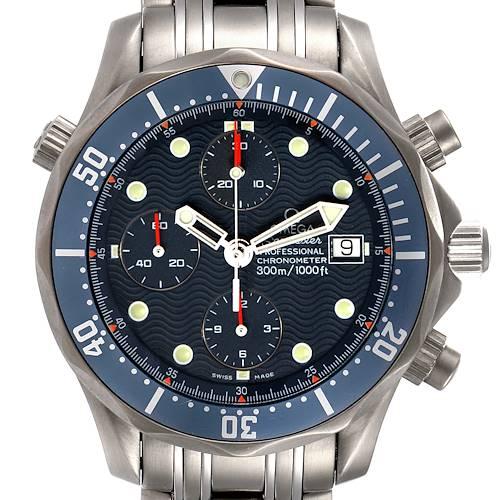 Photo of Omega Seamaster Chrono Diver Blue Dial Titanium Mens Watch 2298.80.00 Card