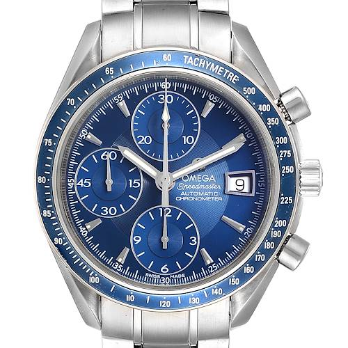 Photo of Omega Speedmaster Date Blue Dial Chrono Watch 3212.80.00