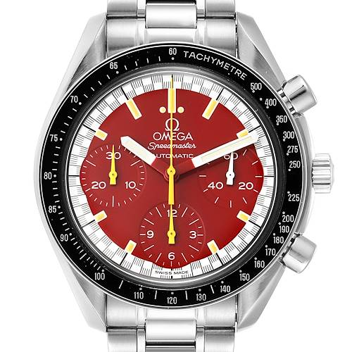 Photo of Omega Speedmaster Schumacher Red Dial Automatic Mens Watch 3510.61.00
