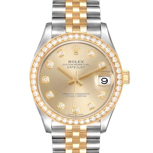 Photo of Rolex Datejust 31 Midsize Steel Yellow Gold Diamond Ladies Watch 278383