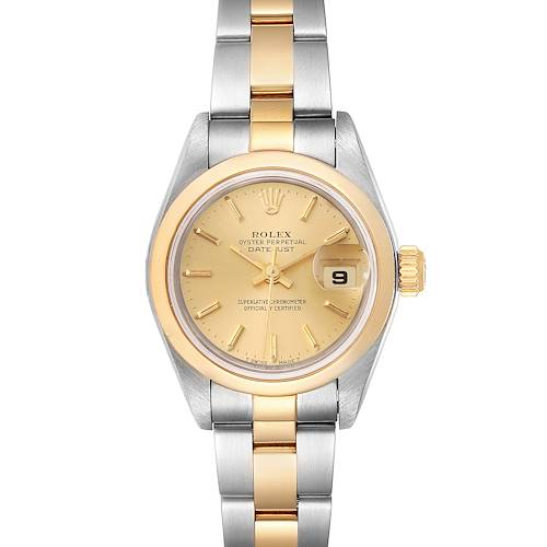 Photo of Rolex Datejust Steel Yellow Gold Champagne Dial Ladies Watch 79163