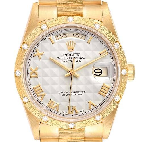 Photo of Rolex President Day-Date Yellow Gold Diamond Mens Watch 18308