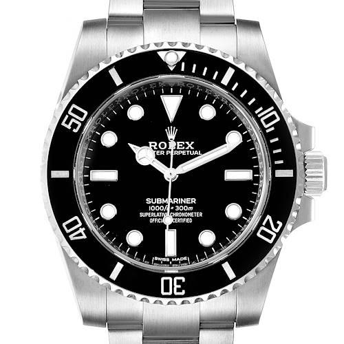 Photo of Rolex Submariner 40mm Ceramic Bezel Steel Watch 114060 Box Card Unworn