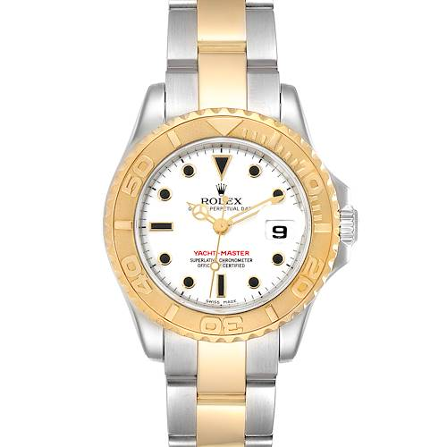 Photo of Rolex Yachtmaster 29 Steel Yellow Gold White Dial Ladies Watch 169623 Box Papers