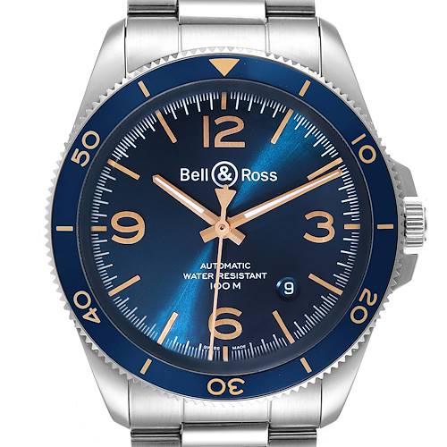 Photo of Bell & Ross Heritage Aeronavale Blue Dial Steel Watch BRV292 Box Card