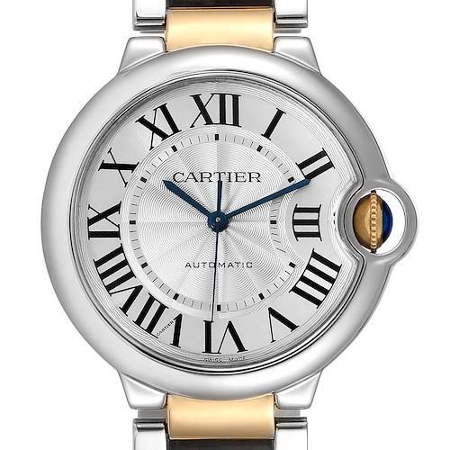 Photo of Cartier Ballon Bleu Midsize 36 Steel Yellow Gold Watch W2BB0012