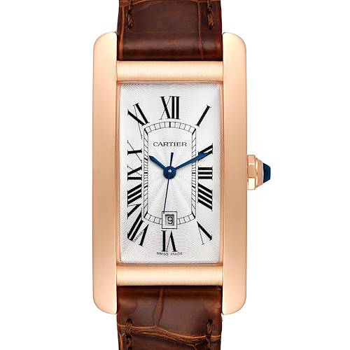 Photo of Cartier Tank Americaine Midsize Rose Gold Ladies Watch W2620030 Box Card
