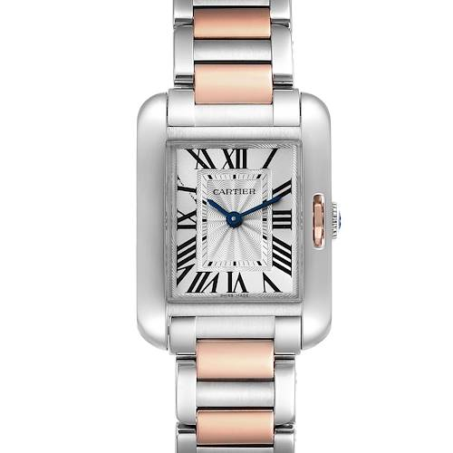 Photo of Cartier Tank Anglaise Small Steel Rose Gold Ladies Watch W5310036