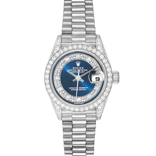 Photo of Rolex President White Gold Myriad Diamond Dial Ladies Watch 79159 Box Papers
