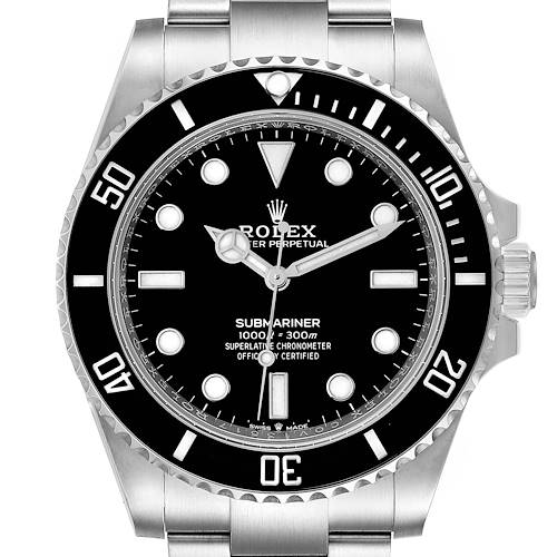 Photo of Rolex Submariner Non-Date Ceramic Bezel Steel Mens Watch 124060 Unworn