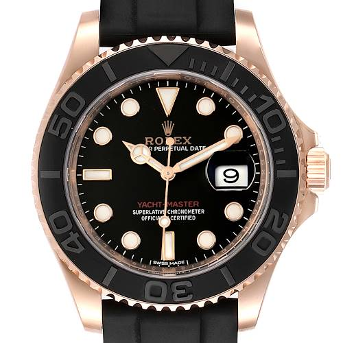 Photo of Rolex Yachtmaster 40mm Everose Gold Rubber Strap Watch 116655