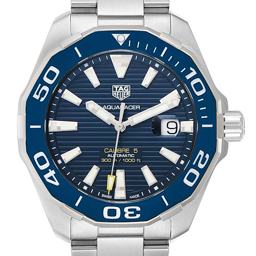 Photo of Tag Heuer Aquaracer Blue Dial Steel Mens Watch WAY201B Box Papers
