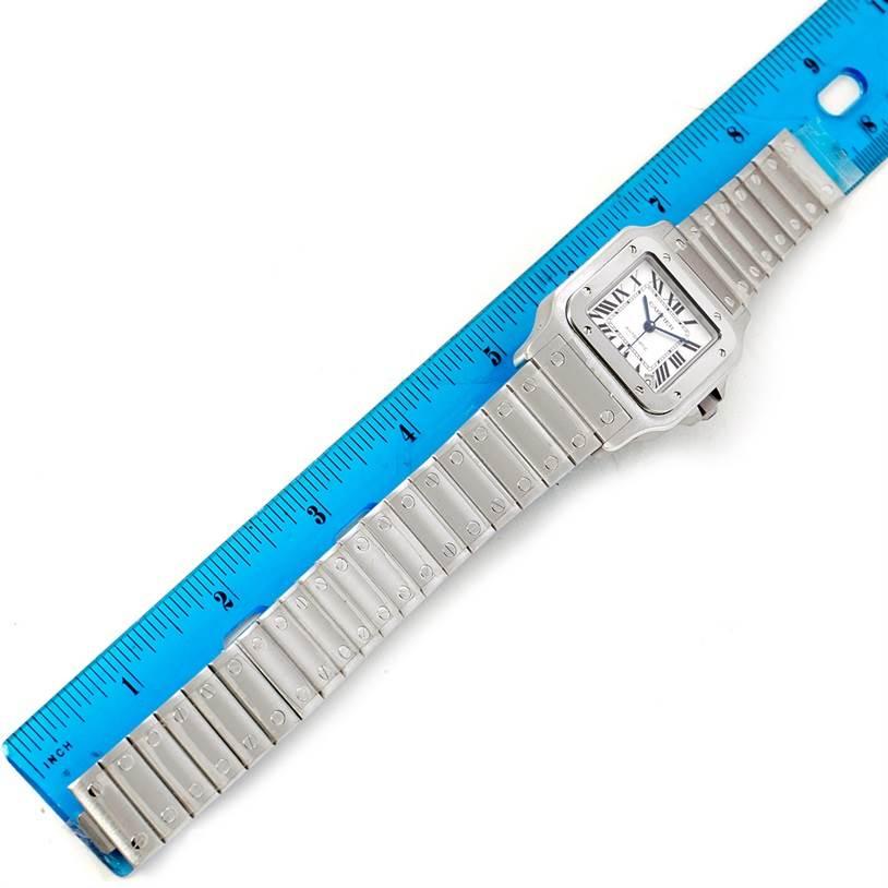 7858 Cartier Santos Galbee XL Steel Mens Watch W20098D6 Box Papers SwissWatchExpo