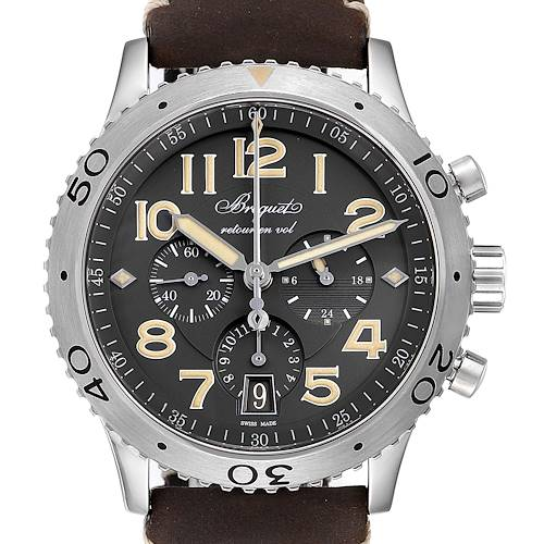Breguet Aeronavale Type XX Flyback Steel Mens Watch 3817 Box Papers