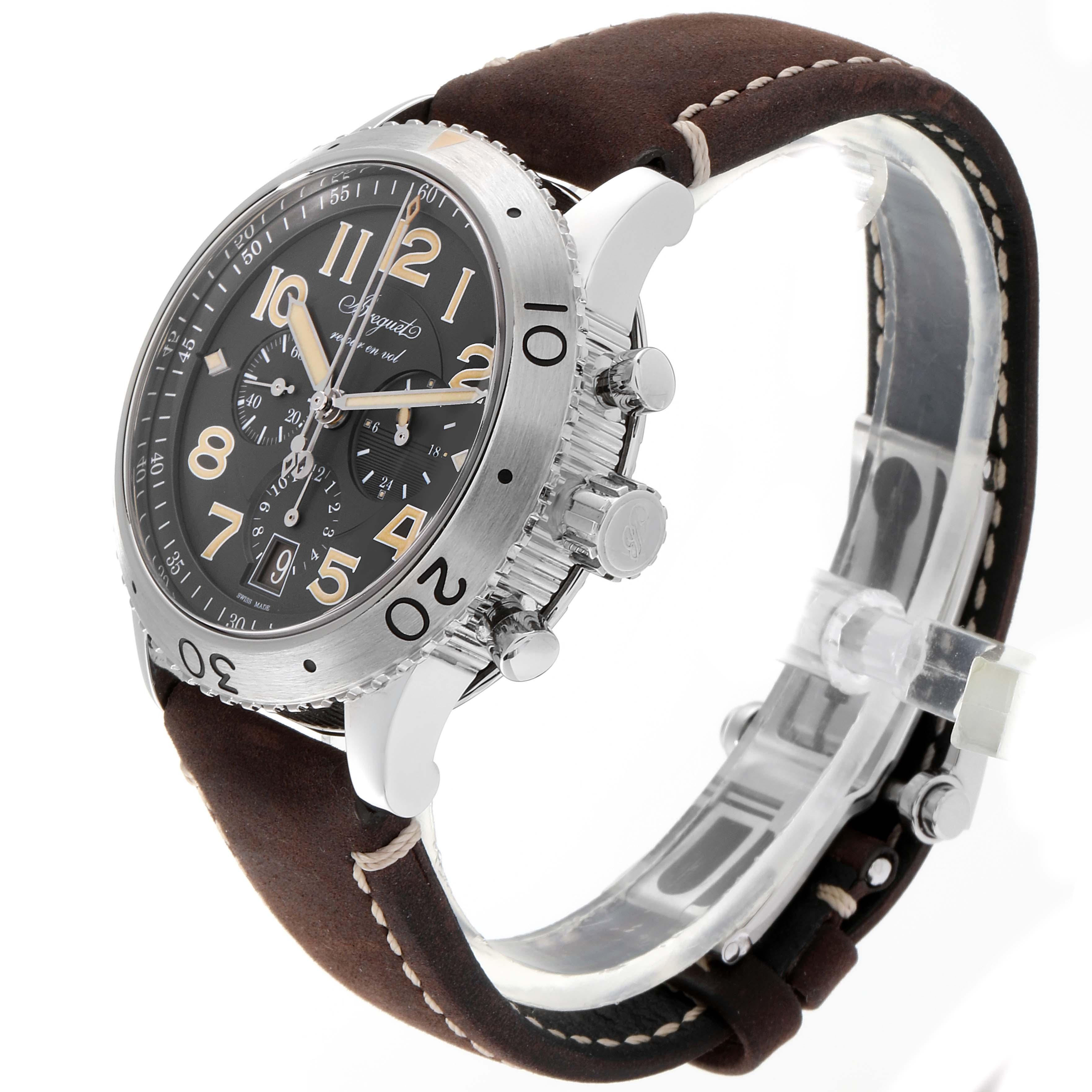 Breguet Aeronavale Type XX Flyback Steel Mens Watch 3817 Box Papers SwissWatchExpo