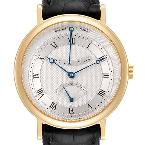 Breguet Classique Yellow Gold Retrograde Seconds Mens Watch 5207