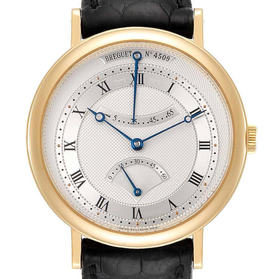 Breguet Classique Yellow Gold Retrograde Seconds Mens Watch 5207 SwissWatchExpo