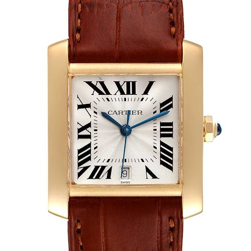 Photo of Cartier Tank Francaise Large Yellow Gold Brown Strap Unisex Watch W5000156