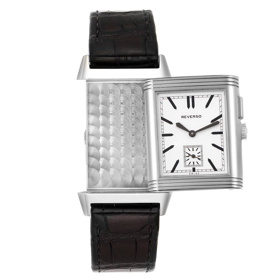 Jaeger LeCoultre Grande Reverso Duo Day Night Steel Watch 278.8.54 Q3788570 SwissWatchExpo