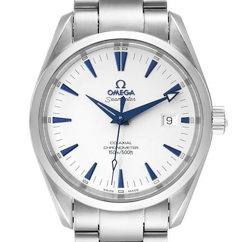 Photo of Omega Seamaster Aqua Terra Blue Hands Steel Mens Watch 2503.33.00 Card