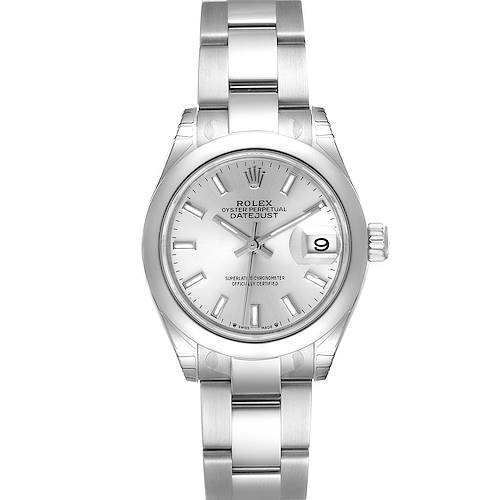Photo of Rolex Datejust 28 Silver Dial Oyster Bracelet Steel Ladies Watch 279160 Unworn