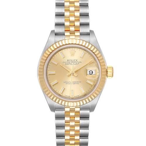 Photo of Rolex Datejust 28 Steel Yellow Gold Champagne Dial Ladies Watch 279173 Unworn
