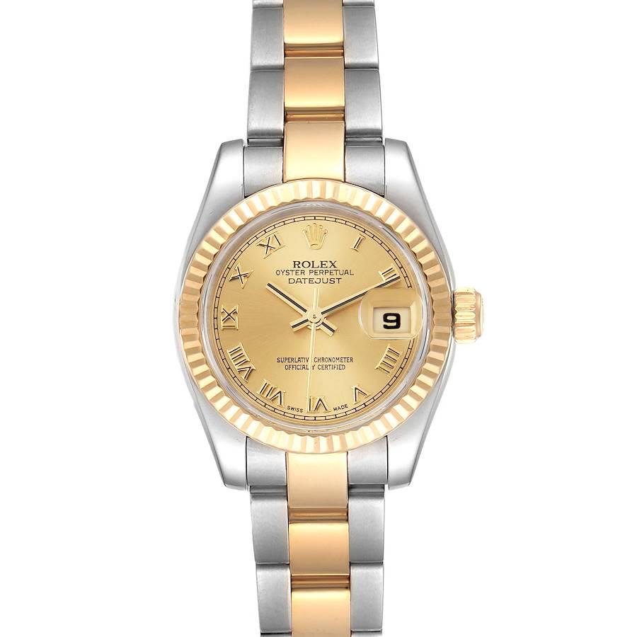 Rolex Datejust Steel Yellow Gold Champagne Dial Ladies Watch 179173 SwissWatchExpo