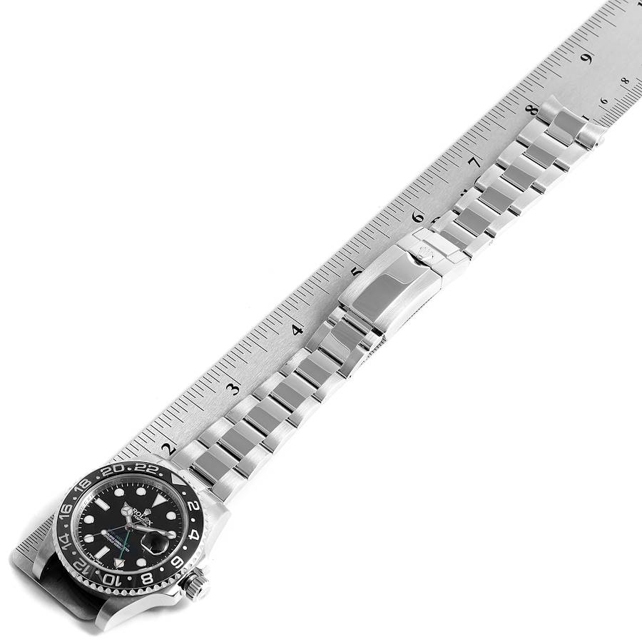 Rolex GMT Master II Black Dial Steel Mens Watch 116710 SwissWatchExpo