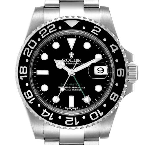 Photo of Rolex GMT Master II Black Dial Steel Mens Watch 116710