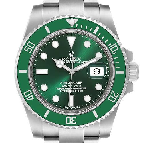 Photo of Rolex Submariner Hulk Green Dial Bezel Steel Mens Watch 116610