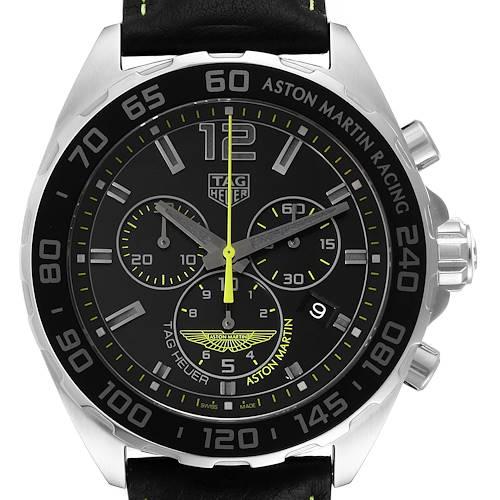Photo of Tag Heuer Formula 1 Aston Martin Chronograph Steel Watch CAZ101P Box Card