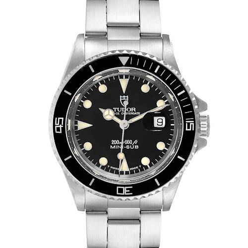 Photo of Tudor Prince Date Mini Sub Black Dial Steel Unisex Watch 73090 Box Papers