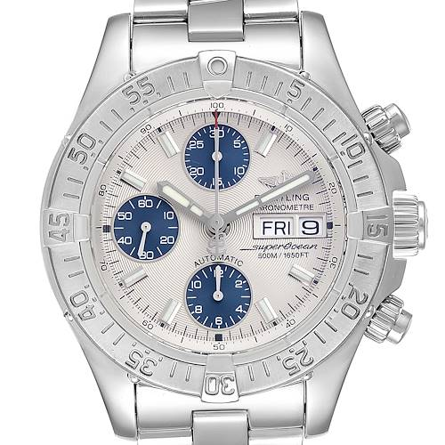 Photo of Breitling Aeromarine Superocean Silver Dial Mens Watch A13340 Box