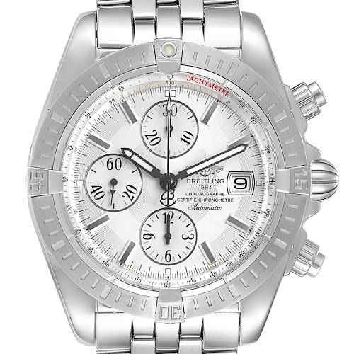 Photo of Breitling Chronomat Evolution Silver Dial Steel Mens Watch A13356