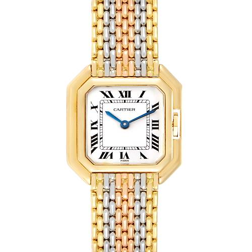 Photo of Cartier Ceinture Paris Trinity White Yellow Rose Gold Ladies Watch
