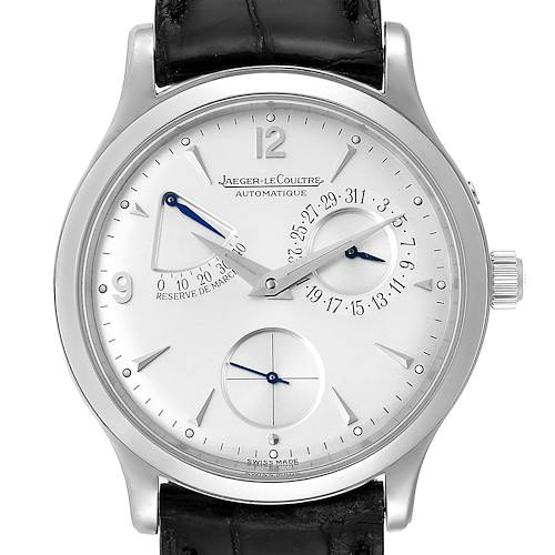 Photo of Jaeger Lecoultre Reserve De Marche Steel Mens Watch 140.8.38.S Q1488404 Box Papers