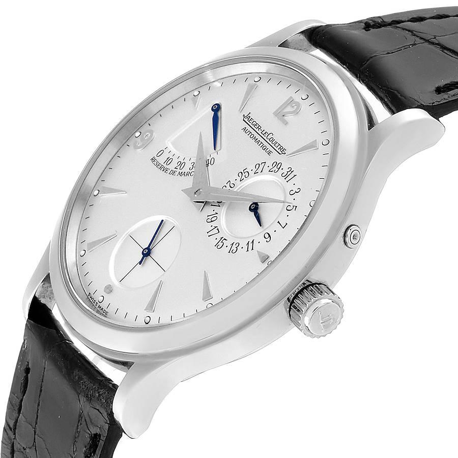 Jaeger Lecoultre Reserve De Marche Ultra Thin Watch 140.8.38.S Q1488404 Box Papers SwissWatchExpo