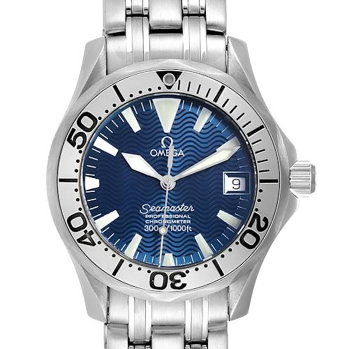 Photo of Omega Seamaster Midsize Steel Electric Blue Dial Watch 2554.80.00