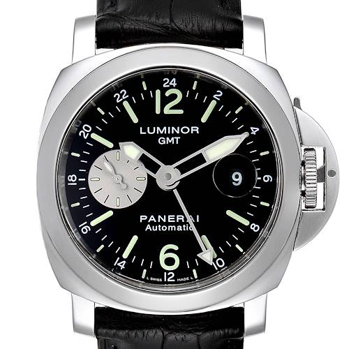 Photo of Panerai Luminor GMT Black Strap Automatic Mens Watch PAM00088