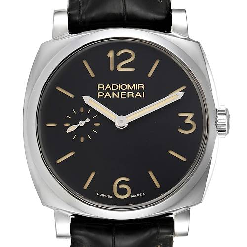 Photo of Panerai Radiomir 1940 Black Dial 3 Days 42mm Steel Mens Watch PAM00512