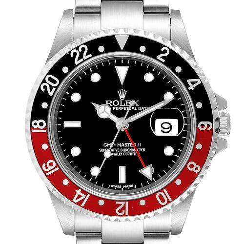 Photo of Rolex GMT Master II Coke Error Dial 3186 Movement Mens Watch 16710 Box Card