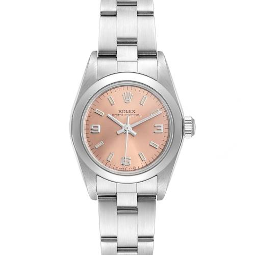 Photo of Rolex Oyster Perpetual 24 Salmon Dial Ladies Watch 76080 Box
